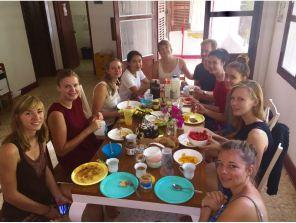 Breakfast at the weekend in Vientiane