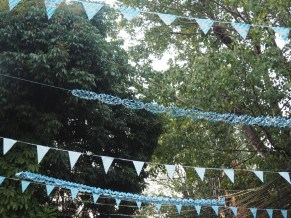 Vat Jupend Street with Bavarian garlands