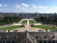 View over Karlsruhe from the top of the castle