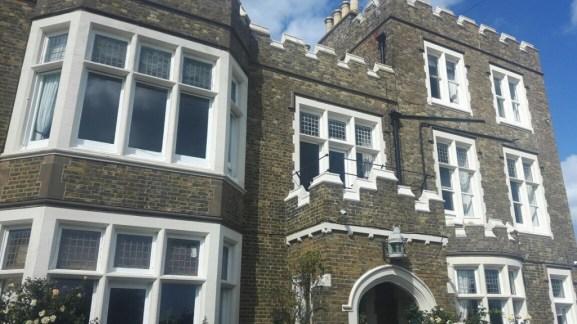 "Dickens window on 1st floor of ""Bleak House"" with seaview"
