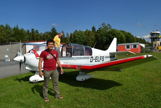 With a colleague from the UeBZO we made a flight with a small aircraft