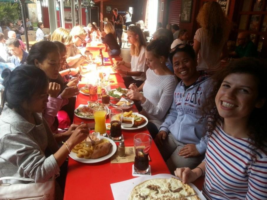 "Lunch in the ""Stövchen"", a student pub"