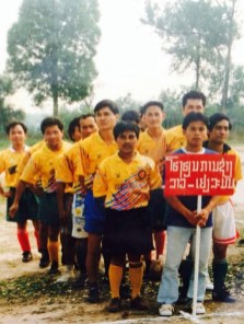 1995 or 1996 - you can see the present Acting Director Mr Khamsavay at the back on the left side