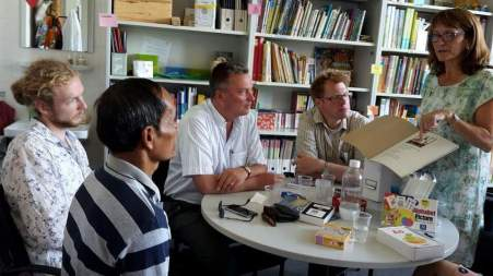 In Prof. Martin's office at the University of Education Karlsruhe