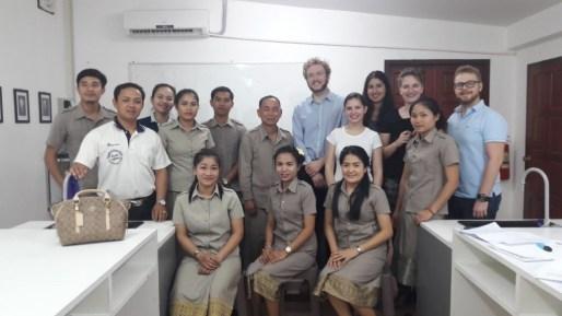 Teachers' meeting with director Mr Khampheng Bounthalavong and project leader Johannes Zeck