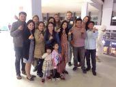 Saying goodbye to team V at Wattay Airport