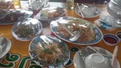 Variety of Lao food