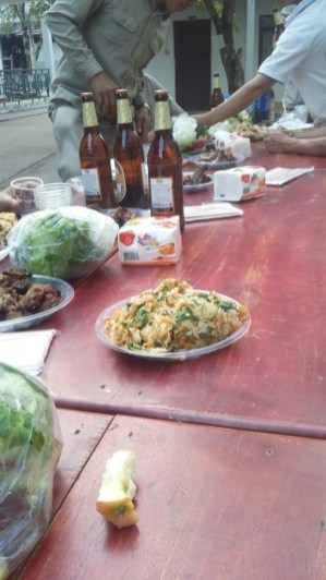 Food and Beerlao belong together in Laos
