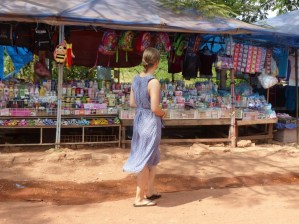 Me (Malin) in front of a street stall