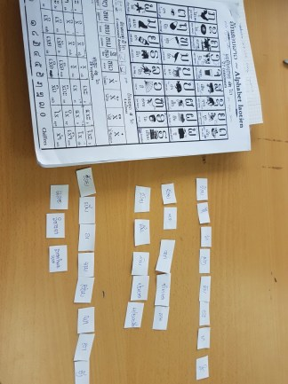 "Matching game taught by Ms Khantanaly to practise sentences of ""How to introduce yourself"""