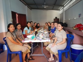 Our first get together with the Lao teachers at Ban Phang Heng Secondary School