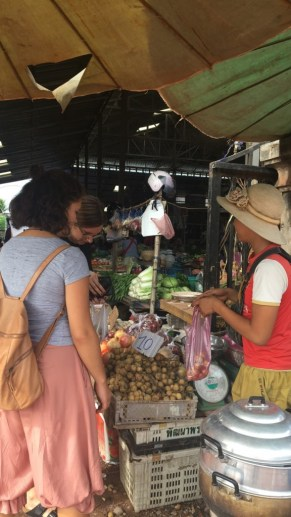 We buy fresh vegetables at the market almost every day