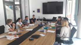 Meeting with Prof. Dr. Isabel Martin, Sonja Pruell, the new voluneers, and Johannes Zeck