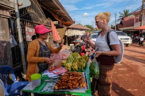 It is always helpful to underline the communication in Lao by using gestures and signs