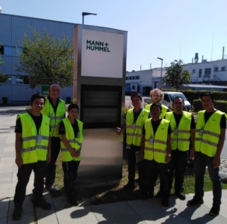 The Lao partners visit the MANN+HUMMEL company...