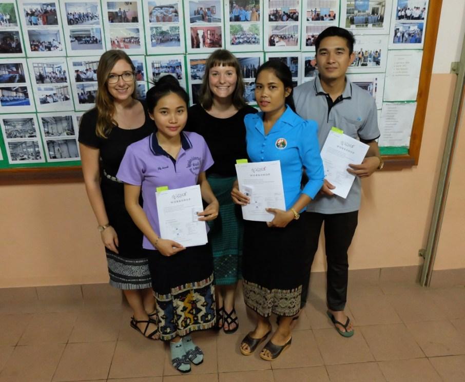 Jasmin, Marleen, Mr Sackbong Boulapane, Ms Khamsee Thabounheuang, Ms Chanmany Tippachan
