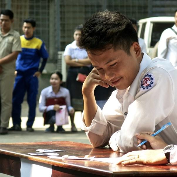Student on Teachers' Day, LGTC, Vientiane