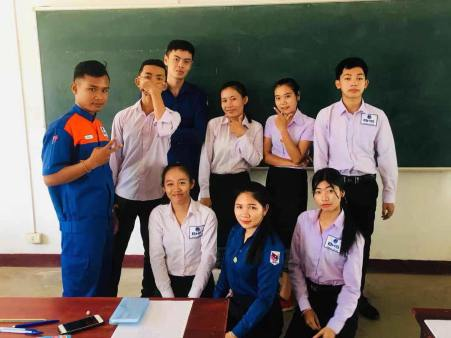 Ms Toukta with her classmates