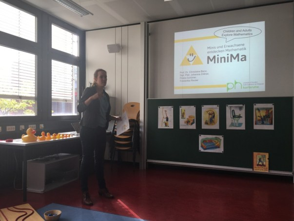 "Ms Schoener explains the Maths Lab (""Minima"") for primary school pupils..."