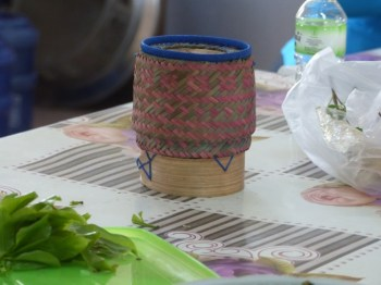 These little baskets are used to store sticky rice.