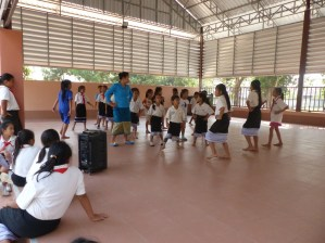 ... and to practise traditional Lao dance.