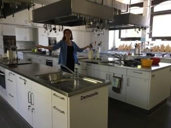 ... teaching kitchen...