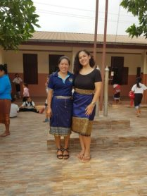 "Ms Bounpheng and ""Teacher Elisabeth"""