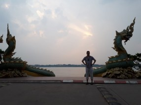Mekong river blank at Thakhek City, Khammaoune Province