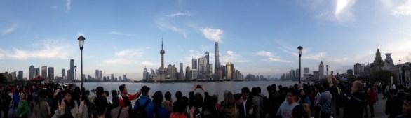 Shanghai's skyline from the Bund