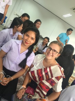 Ms Toukta with her Englisch teacher Nicole Wiesa at a baci.