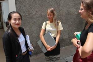 Small talk with tandem-partner Ms Moukdala