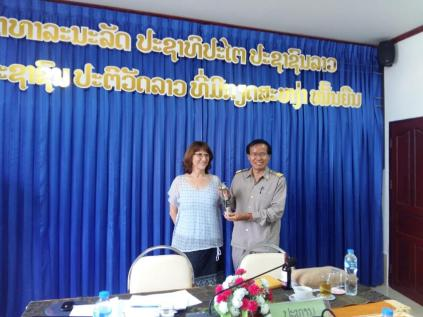Prof. Dr. Isabel Martin with Assoc. Prof. Dr. Sitha Khemmarath (Vice-President)...