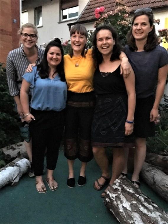 Half of Team VII: Anja Schuler, Meike Weis, Marleen Linder, Pauline Faix, Natalie Wickmann