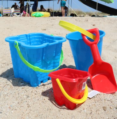 Bucket and shovel for sandcastles or construction work?