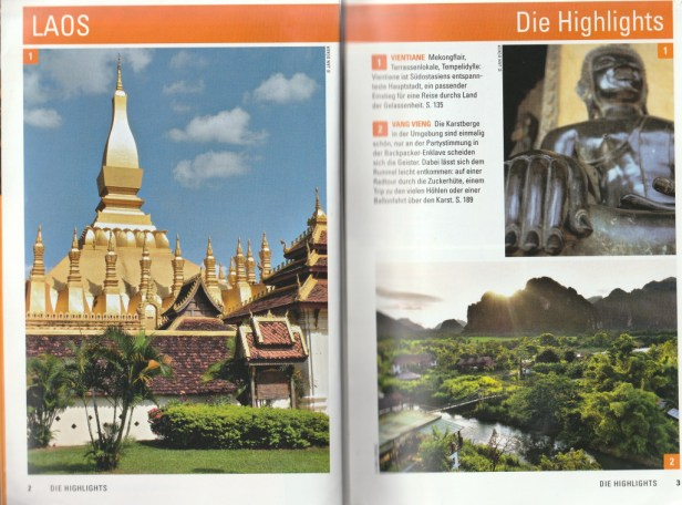 """Preface of the table of contents - excerpt from """"Laos – Travel Handbücher"""", © 2015 MAIRDUMONT GmbH & Co. KG"""