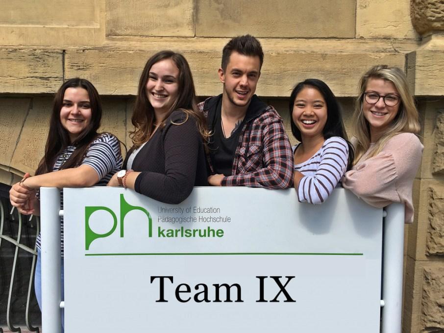 Team IX members: Laura Jakob, Yvonne-Jacqueline Muss, David Trendl, Phi Ha Nguyen, Anabell Kosalla