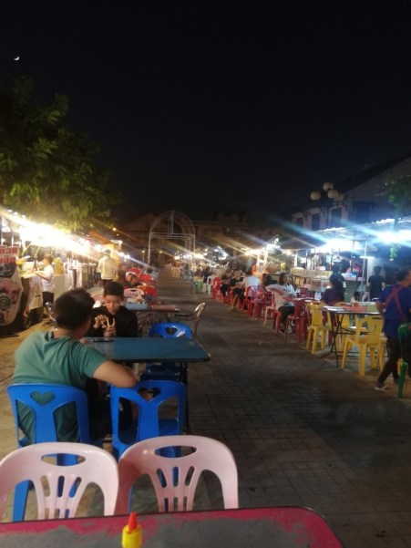 Night food market...