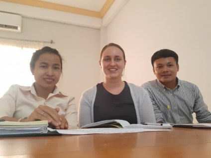 My Lao teachers at SKU - Ms Khanthanaly and Mr Chanthalakone (he is in Karlsruhe now learning German)