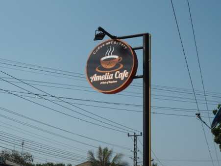 When you see this sign on Sokpaluang Road, go check out the Amelia Cafe