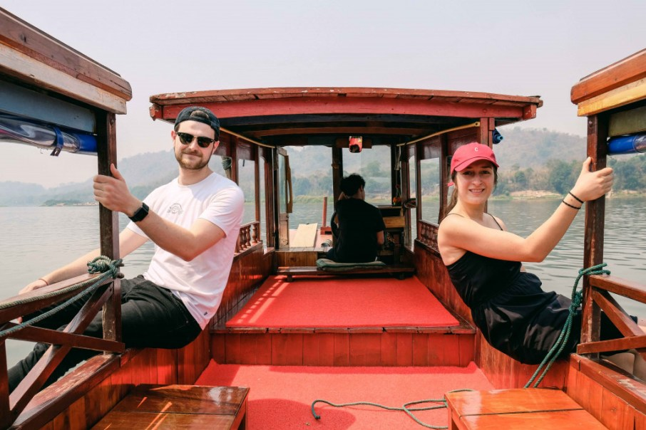 "LGTC-team in Luang Prabang on a ""slow boat"""