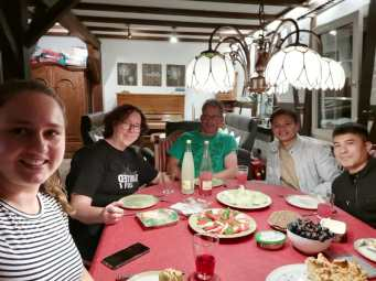 Special dinner with Rebecca and her parents