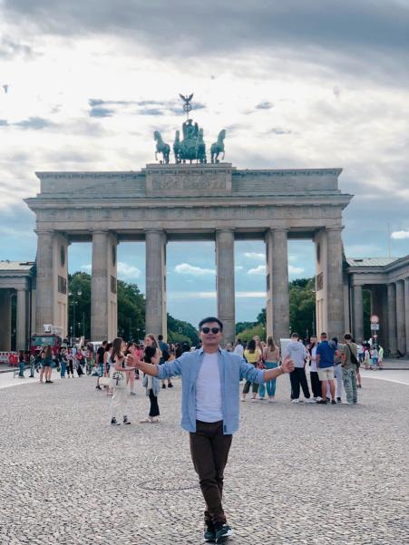 Brandenburg Gate in the evening