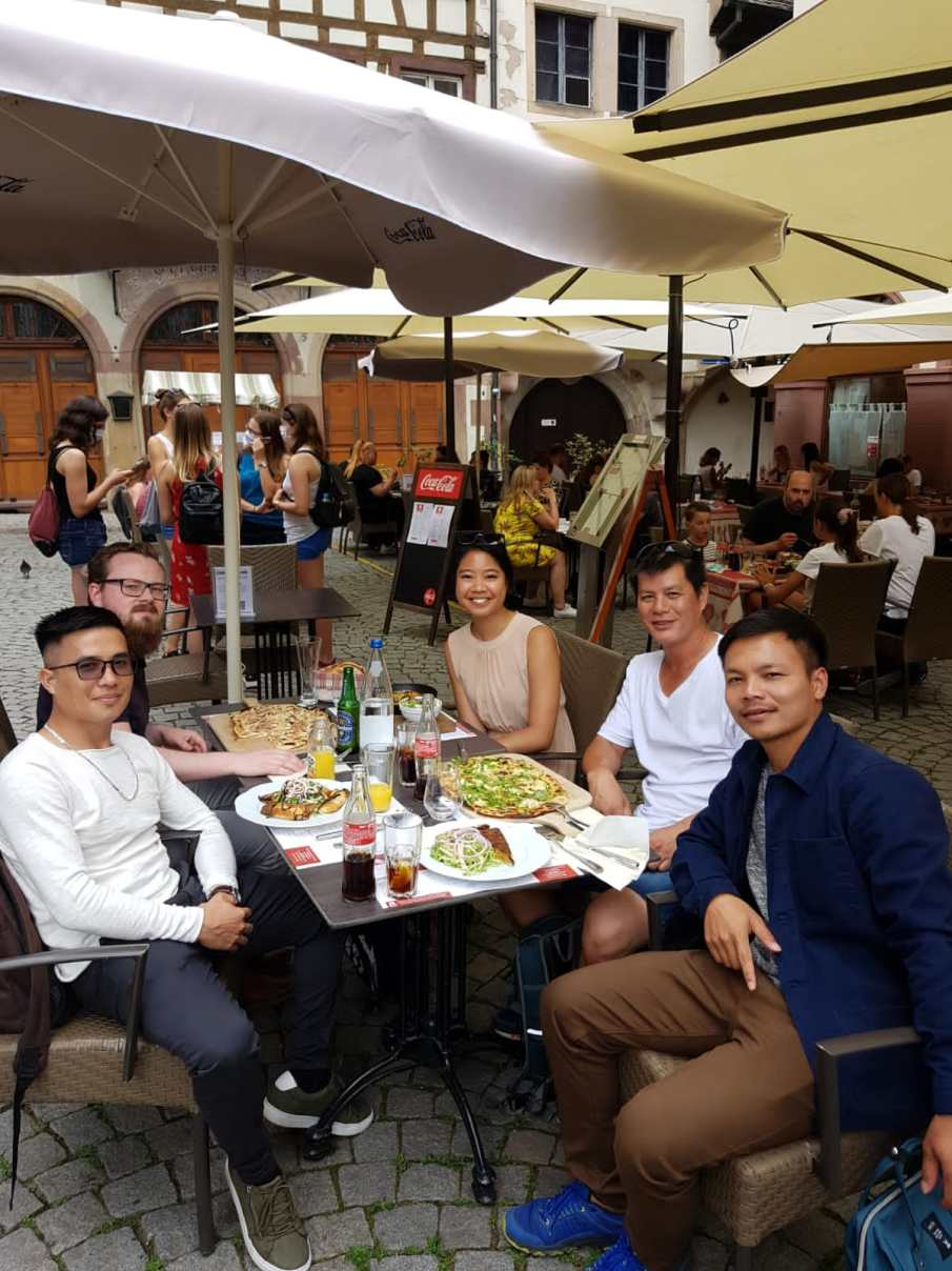 Had yummy lunch with my co-travelers