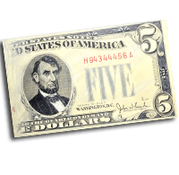 Lincoln Five Dollar