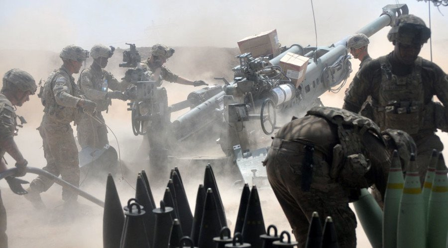 American troops use in Iraq a system to combat UAV AUDS 4