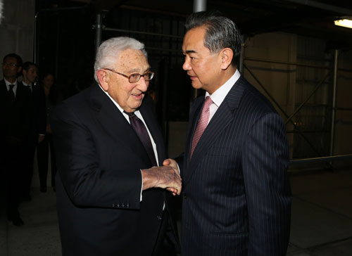 Kissinger met with Chinese FM Wang Yi last week