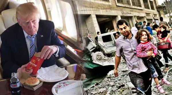 As Media Obsesses Over Trump's Diet, Israel Is Dropping Bombs On Children