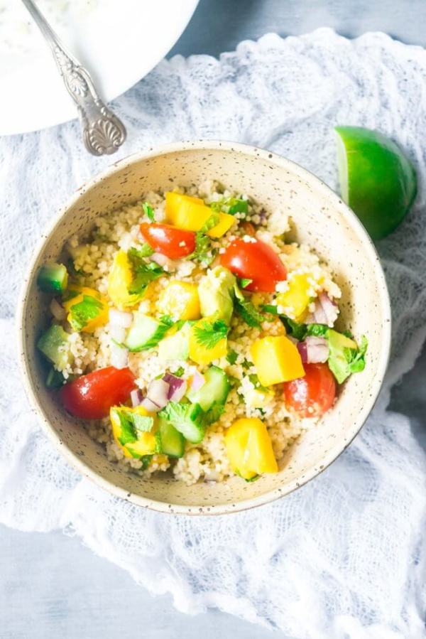 Mango Couscous Salad With Tahini Dressing The Last Cookie