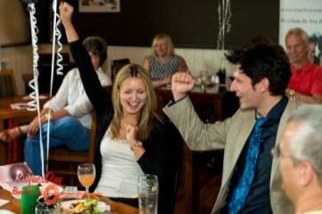 Rod and Lisa celebrate a successful bid!