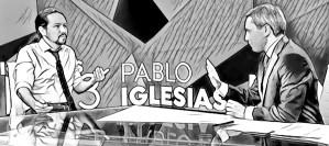 Pablo Iglesias y Vicente Vallés - A3